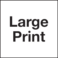 This symbol indicates that Large Print materials are available, printed in 18 pt. or larger text.