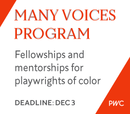 Many Voices deadline December 3, 2015