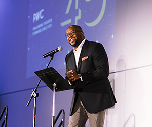 Idris Goodwin at the Playwrights' Center 45th Anniversary Gala