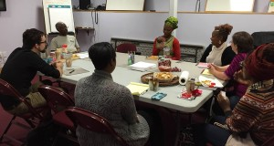 Playwriting class taught by Carlyle Brown at the Playwrights' Center
