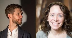 Playwrights Philip Dawkins and Sarah Myers