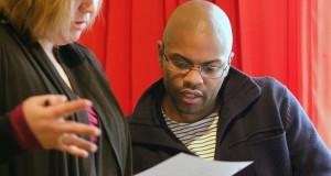 Dramaturg Wendy Weckwerth and Core Writer Harrison David Rivers