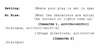play writing format
