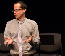 Andrew Rosendorf during the 2016 PlayLabs Playwriting Fellows Showcase