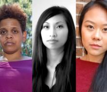 2017-18 Many Voices Fellows Stacey Rose and Saymoukda Duangphouxay Vongsay and Many Voices Mentee Julia Gay