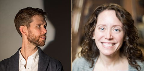 Playwrights Philip Dawkins and Sarah Myers