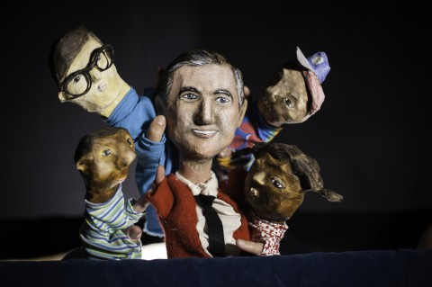 Mister Rogers puppet and other puppets from Make Believe Neighborhood