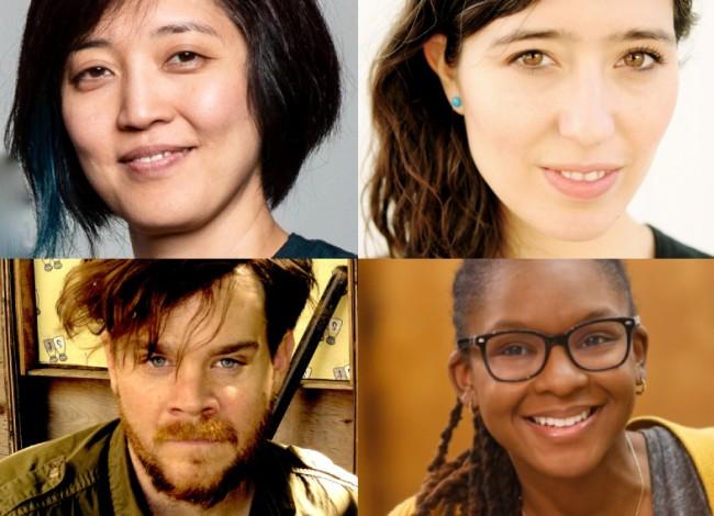 2017-18 Jerome Fellows Mia Chung, Jessica Huang, Tim J. Lord, and Tori Skyler Sampson