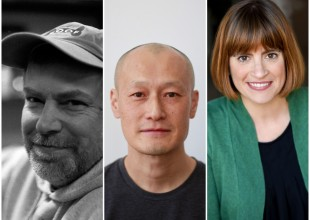 2018-19 McKnight Theater Artist Fellows Scott W. Edwards, Masanari Kawahara, and Elise Langer