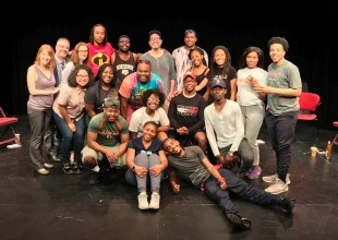 Students from Spelman and Morehouse Colleges with Playwrights' Center staff