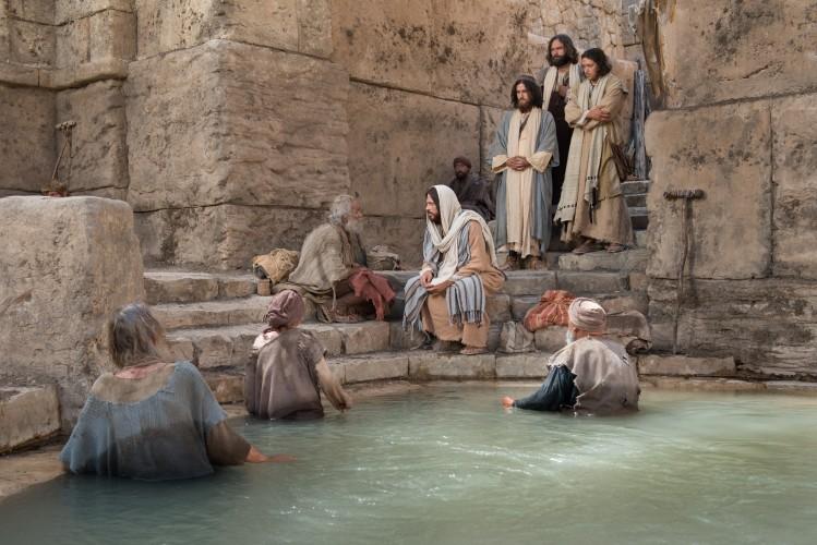 Image result for jesus healing bethesda