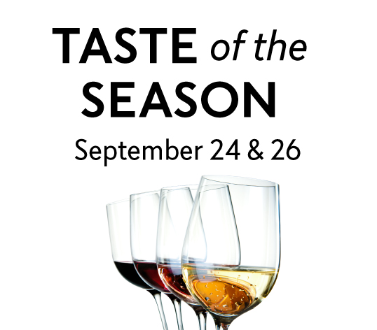 Taste of the Season, September 24 & 26, 2017