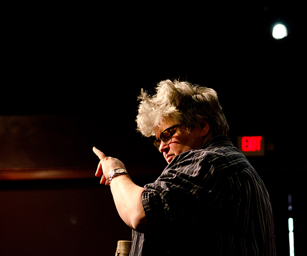 Madge Darlington directs a reading of Sherry Kramer's THREE QUARTER INCHES OF SKY at the Playwrights' Center. Photo by Paula Keller.