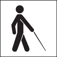 This symbol indicates access for people who are blind or have low vision.
